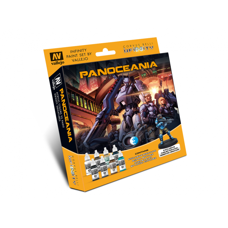 Model Color Set: Infinity Panoceania with Exclusive Miniature
