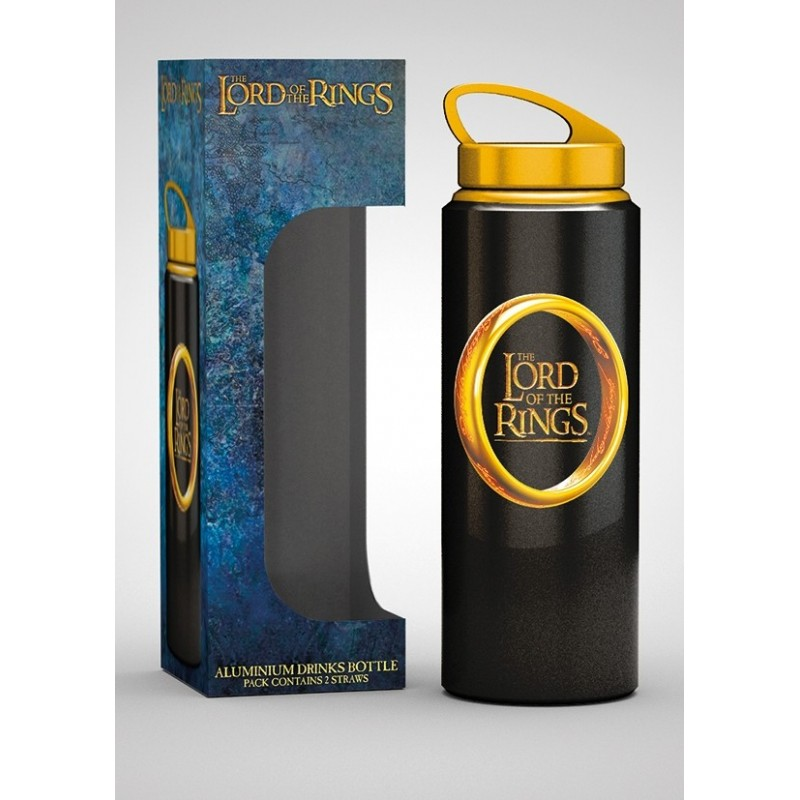 LORD OF THE RINGS ONE RING ALUMINIUM DRINK BOTTLE