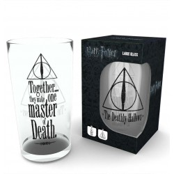 HARRY POTTER DEATHLY HALLOWS PINT GLASS