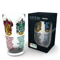 HARRY POTTER HOUSE CRESTS PINT GLASS