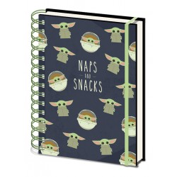Star Wars: The Mandalorian (Snacks And Naps)  A5 Wiro Notebook