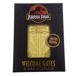 Jurassic Park 24k gold plated Welcome Gates