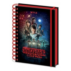 Stranger Things (One Sheet) Metallic Cover  A5 Wiro Notebook